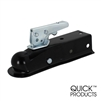 "Quick Products QP-HS3020 Black Trigger-Style Trailer Coupler 1-7/8"" Ball, 2"" Channel - 2,000 lbs."