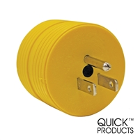 Quick Products QP-RV050 Round Adapter Plug - 15A Male to 30A Female