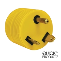 Quick Products QP-RV051 Round Adapter Plug - 30A Male to 15A Female