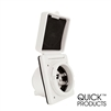 Quick Products QP-RV060 30 Amp Power Inlet - White