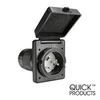 Quick Products QP-RV065B 50 Amp Power Inlet - Black