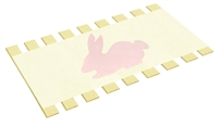 Twin Bed Slats Support Boards Canvas Burlap Pink Bunny Animal Character Applique