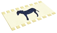 Twin Bed Slats Support Boards Canvas Burlap Zebra Animal Character Applique