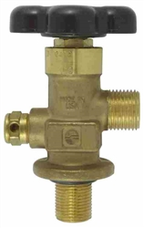 "CO2 Valve Aluminum .750"" Straight"