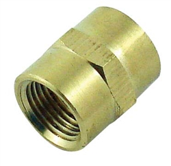 Coupler, 1/4fpt X 1/4fpt