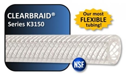 Reinforced Clearbraid Tubing 1/2 in per ft