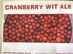 Cranberry Wit Ale Beer Kit