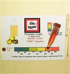 Titratable Acidity Test Kit for Hard Cider 10 Tests Accuvin