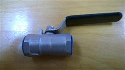 "Stainless Steel Ball Valve 1/2"" Restricted Port"