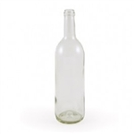 750 ml Clear Bordeaux Bottle Flat