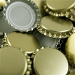 Gold Beer Bottle Caps, 12pk