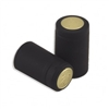 Black Matte PVC Capsules Gold Top 12 ct