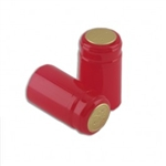 Holiday Red PVC Capsules, pack 12