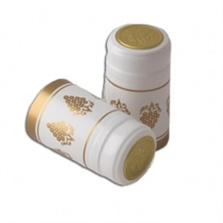 white with gold grapes pvc capsules