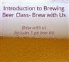 Intro to Brewing Beer class with 3 gal Kit for 1