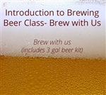 Intro to Brewing Beer class with 3 gallon kit