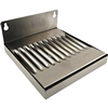 "Stainless Steel Drip Tray 4"" X 6"" wall mount"