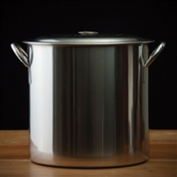 Brew Pot 22 QT SS w/ padded bottom & lid