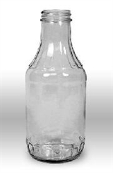 Bottle 16 oz Screw Cap Clear
