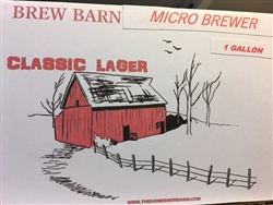 Micro Brewer Lager Style 1 gal Beer Kit