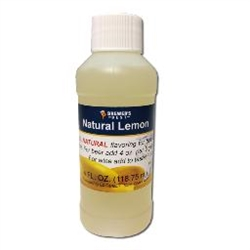 NATURAL LEMON FLAVORING EXTRACT 4 OZ