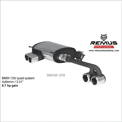 Remus Sport Label Exhaust System EVOMS BMW e82 135i, Evolution Motorsports