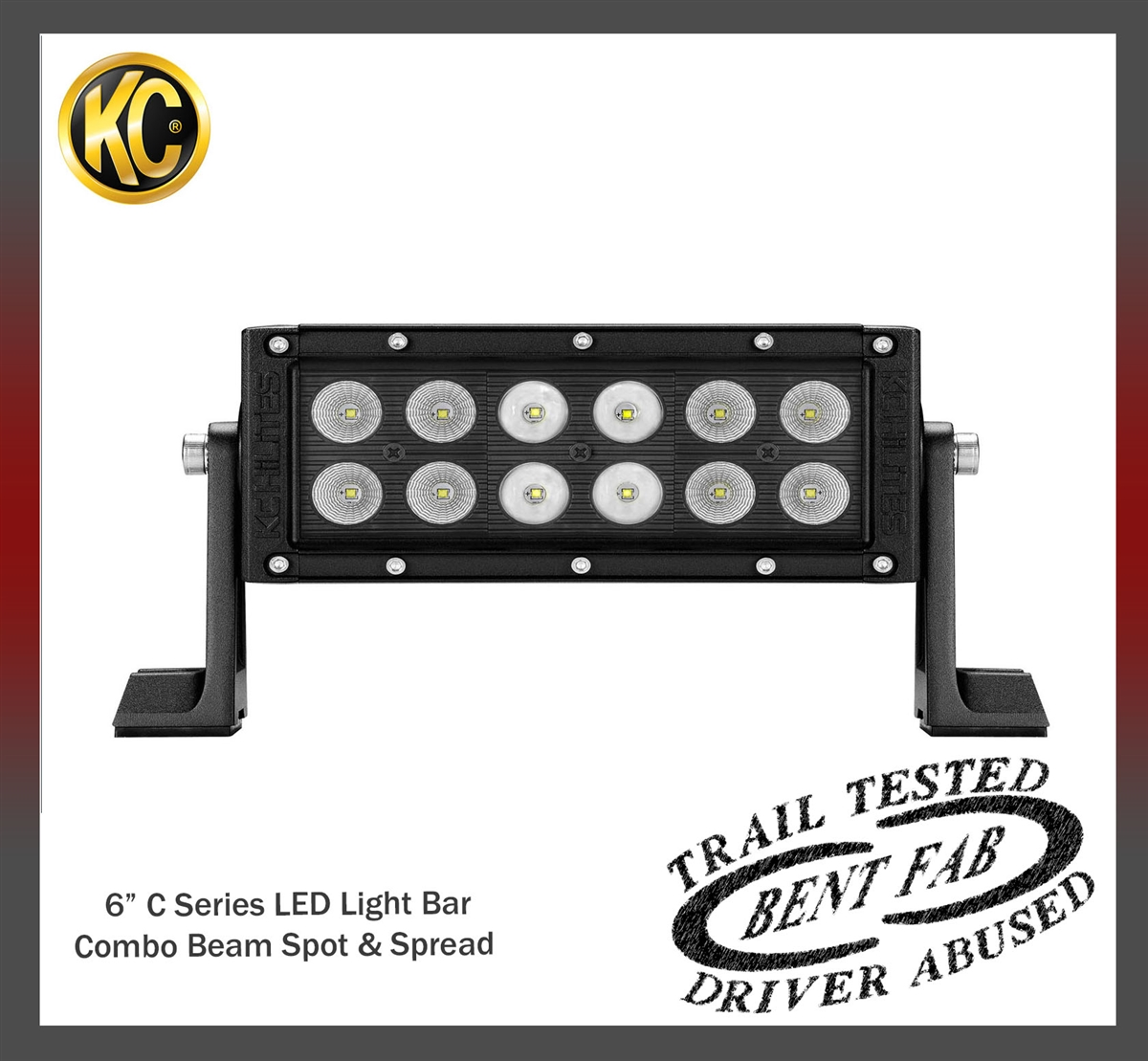 "Kc Hilites C-Series 10/"" Led Light Bar Combo Beam Utv Light"