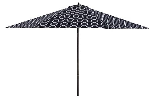 Lauren Company 9 Black White Moroccan Pattern Patio Umbrella
