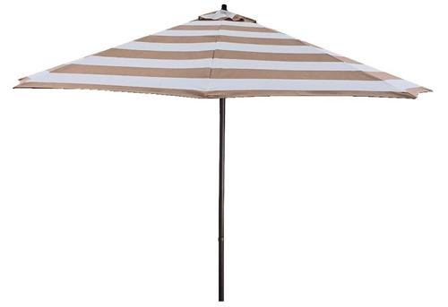 Tan Stripe Aluminum Patio Umbrella