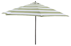 Lauren & Company 9' Green Stripe Aluminum Patio Umbrella