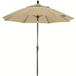 Fiberglass 9-foot Antique Beige Olefin Crank and Tilt Umbrella