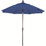 Fiberglass 9-foot Pacific Blue Olefin Crank and Tilt Umbrella