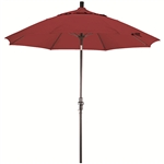 Fiberglass 9-foot Cranberry Red Olefin Crank and Tilt Umbrella
