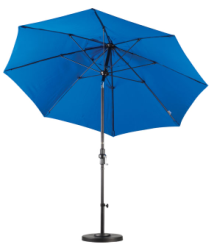 9 Foot Fiberglass Umbrella with stand-Pacific Blue