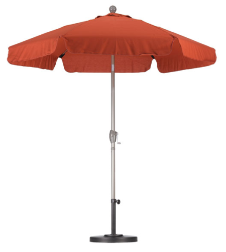 Aluminum 7 5 Foot Brick Red Umbrella