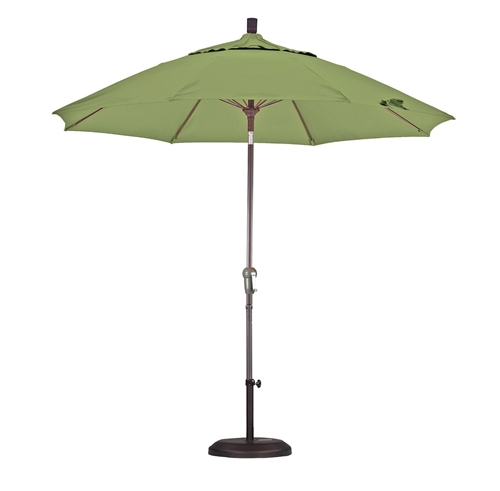 lauren & company olefin 9-foot patio umbrella with base - kiwi green 9 Foot Umbrella Base