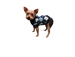 Puppy Dog Blue Argyle Turtleneck Sweater