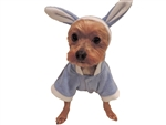 Puppy-Ro Puppy Dog Baby Blue Fleece Hooded Bunny Suit