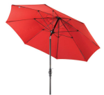9 Foot Fiberglass Umbrella-Cranberry Red