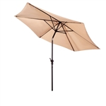 9 Foot Fiberglass Umbrella-Antique Beige