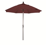 9' Terracotta Fiberglass Market Umbrella with Collar Tilt