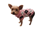 Puppy Dog Pink Argyle Turtleneck Sweater