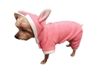 Puppy-Ro Puppy Dog Pink Fleece Hooded Bunny Suit