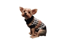 Puppy Dog Cotton Brown Luxury Plaid Turtleneck Sweater