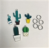 Cactus Pack of 5 Charms