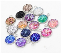 Glitter Druzy Multi Pack of 10 Charms