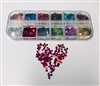 Glitter Hearts 12 Color Box