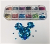Glitter Mouse Head 12 Color Box