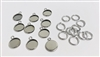 12mm Round Pendant Blank Bezel (Pack of 10)