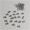 Metal Silver 2021 Charms Pack of 20